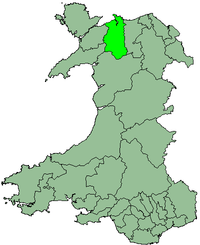 Aberconwy shown within Wales