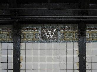 Wall Street (IRT Broadway–Seventh Avenue Line) - Mosaic on the wall