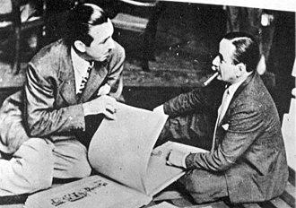 Florencio Molina Campos - Molina Campos (right) with Walt Disney in 1941 when the American entrepreneur visited Argentina