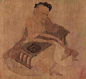 Book of Documents - Fu Sheng expounding on the Classic, attributed to Wang Wei (8th century)
