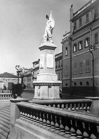 Gibraltar War Memorial - The Gibraltar War Memorial in the 1920s