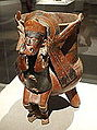 Warrior vessel, West Mexico, Oaxaca, Mixtec culture, 300 BC to 300 AD, clay - De Young Museum - DSC00564.JPG