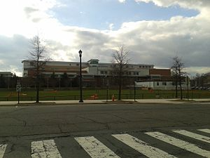 Washington-Lee High School - View of the high school from across Quincy Street