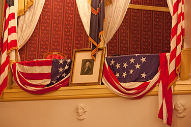 Washington portrait in the Lincoln box at Ford's Theatre, Washington, D.C.jpg
