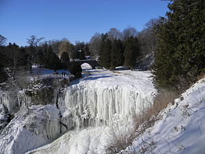 Webster's Falls - Image: Waterdawn Webster Falls in Winter