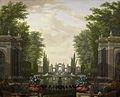 Waterpartij met beelden en gebouwen in een park Rijksmuseum SK-C-388.jpeg