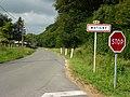 Watigny (Aisne) city limit sign.JPG