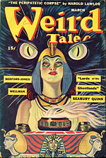Weird Tales cover image for March 1945