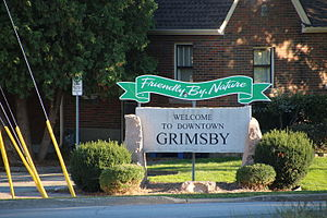 Grimsby, Ontario - Grimsby Welcome Sign