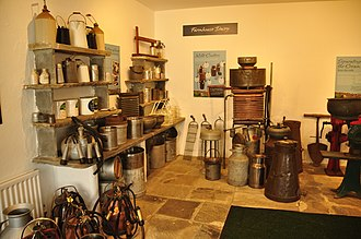 Wensleydale cheese - Tourists appreciate the quaint exhibits at the Creamery