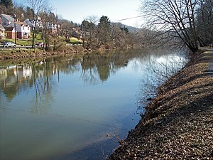 West Fork River - The West Fork River in Clarksburg in 2006