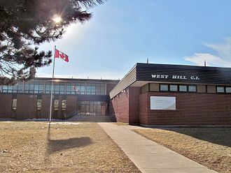 West Hill, Toronto - West Hill Collegiate Institute is a public secondary school situated in West Hill.