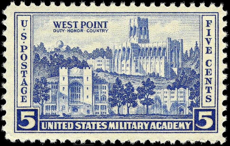 West Point stamp 5c 1937 issue