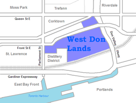 West Don Lands area