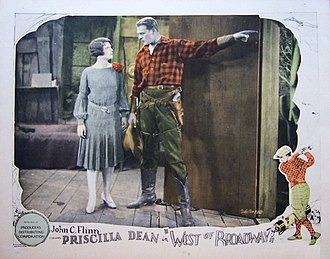 West of Broadway - Lobby card