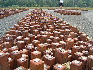 History of the Jews in the Netherlands - Monument at Westerbork: Each stone represents one person who had stayed at Westerbork and died in a Nazi camp