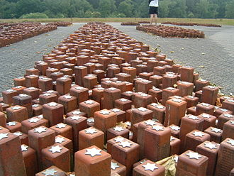 Westerbork transit camp - Monument at Westerbork. Each individual stone represents a single person that had stayed at Westerbork and died in a Nazi concentration camp.