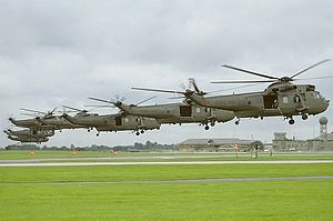 848 Naval Air Squadron - 848 NAS Sea Kings landing at RNAS Yeovilton