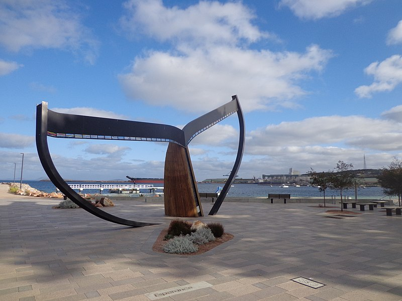 Whale Tail sculpture on the Esperance foreshore.jpg