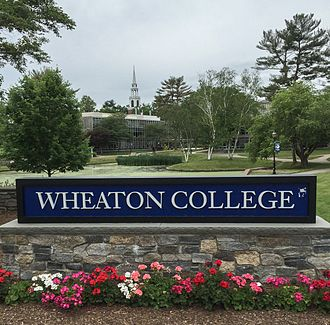 Wheaton College (Massachusetts) - Welcome sign