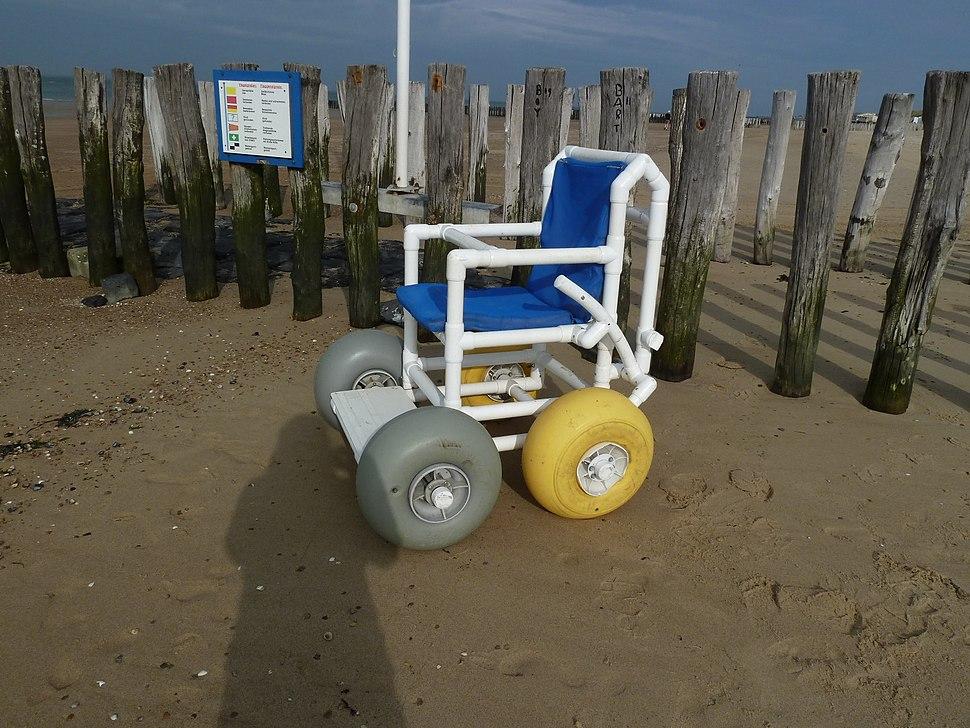 Wheelchair for beach on uiderstrand Westkapelle Walcheren