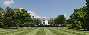 Lawn in front of the White House, Washington, DC.