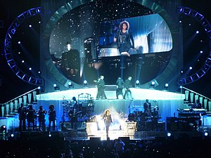 """How Will I Know - Houston performing on her """"Nothing but Love World Tour"""", in Milan, Italy"""