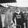 Wielerwedstrijden in Olympisch Stadion , Peter Post en Rik van Steenbergen, Bestanddeelnr 917-8370.jpg