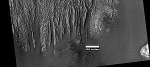 Transverse aeolian ridges - Image: Wiki ESP 039563 1730yardangs