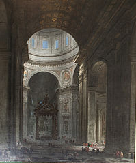 Interior of the Saint Peter's Church in Rome