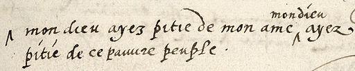 Willem van Oranje - laatste woorden