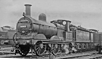 Midland Railway Johnson 0-6-0 - Ex-Midland 2F No. 3561 at Willesden Locomotive Depot 27 April 1946