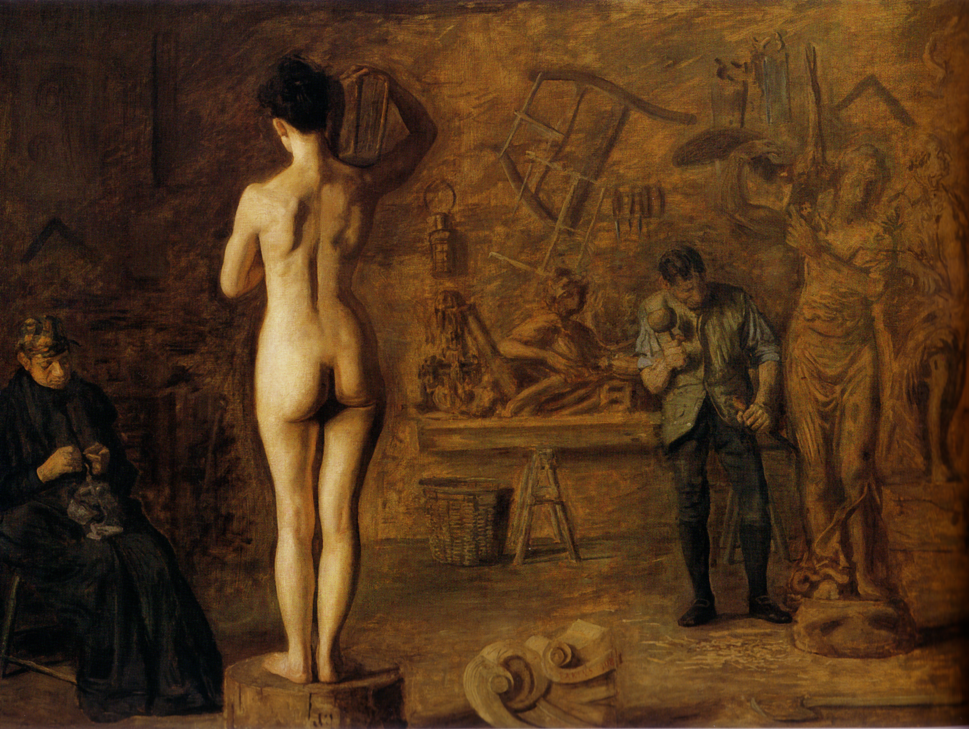 William Rush carving his Allegorical Figure of the Schuylkill river