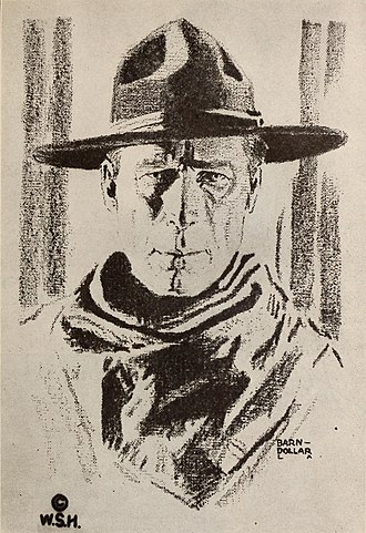 William S. Hart - Sketch of William S. Hart from 1920