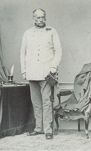 Franz Graf von Wimpffen - Wimpffen photographed by Ludwig Angerer (1860)