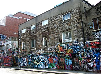Windmill Lane Studios - Windmill Lane Studios was known for its graffiti, here seen in 2008.
