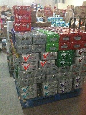 Winn-Dixie - A pallet of Chek branded beverages
