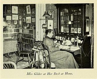 Jeannette Leonard Gilder - Gilder at her desk (1903)