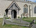 Wooden Grave Markers, All Saints Church at Marsworth - geograph.org.uk - 1526569.jpg