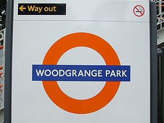 Woodgrange Park railway station - Image: Woodgrange Park stn roundel