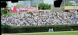 Some Wrigley Field advertising in 2007