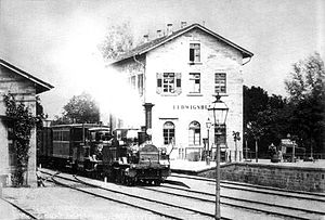 Württemberg Central Railway - Ludwigsburg station in 1860