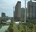 Wuxi Xishan - Anzhen IMG 8993 Zousifang residential area - Jiuli River.jpg