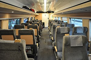 SJ X2 - modernised second class interior