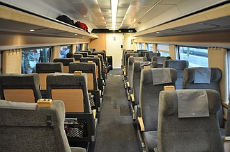 X 2000 - Modernised second class interior