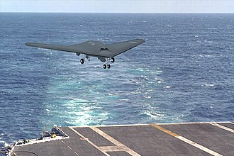 Boeing X-46 - Artist's Impression of an X-46 landing on a carrier