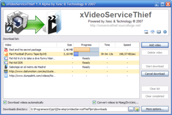 XVideoServiceThief 1.4 en downloading window WinXP.png
