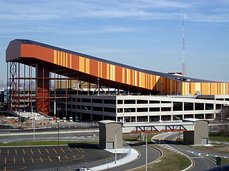 American Dream Meadowlands - The exterior of the indoor ski slope
