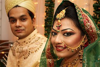Culture of Bengal - Bengali Muslim bride and groom