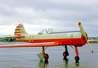 Yakovlev Yak-18 - Soviet Yak-18PM single-seat aerobatic aircraft competing in the 1970 World Aerobatic Championship at RAF Hullavington, England, in 1970